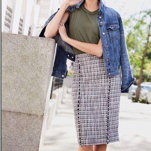 J. Crew Pencil Skirt in Lightweight Tweed